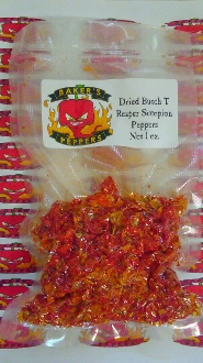 Dried Butch T Reaper Scorpion Red Peppers - 1oz Pack