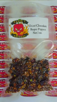 Dried Chocolate Reaper Peppers - 1oz Pack